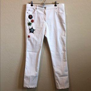 Denim - Escada Stretchy Jeweled Jeans